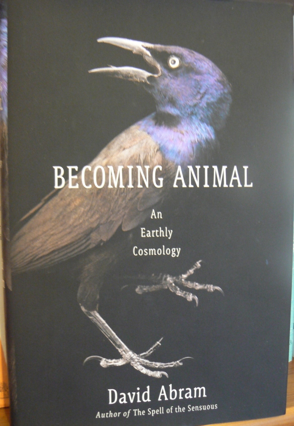 Becoming Animal - An Earthly Cosmology by David Abram (hardback edition - published by Pantheon Books)
